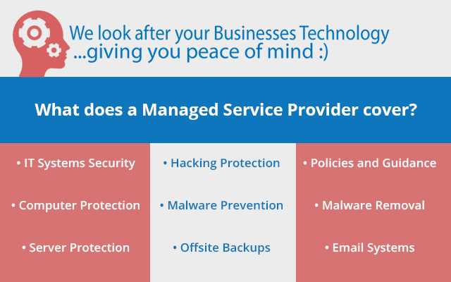 What does a managed service provider cover